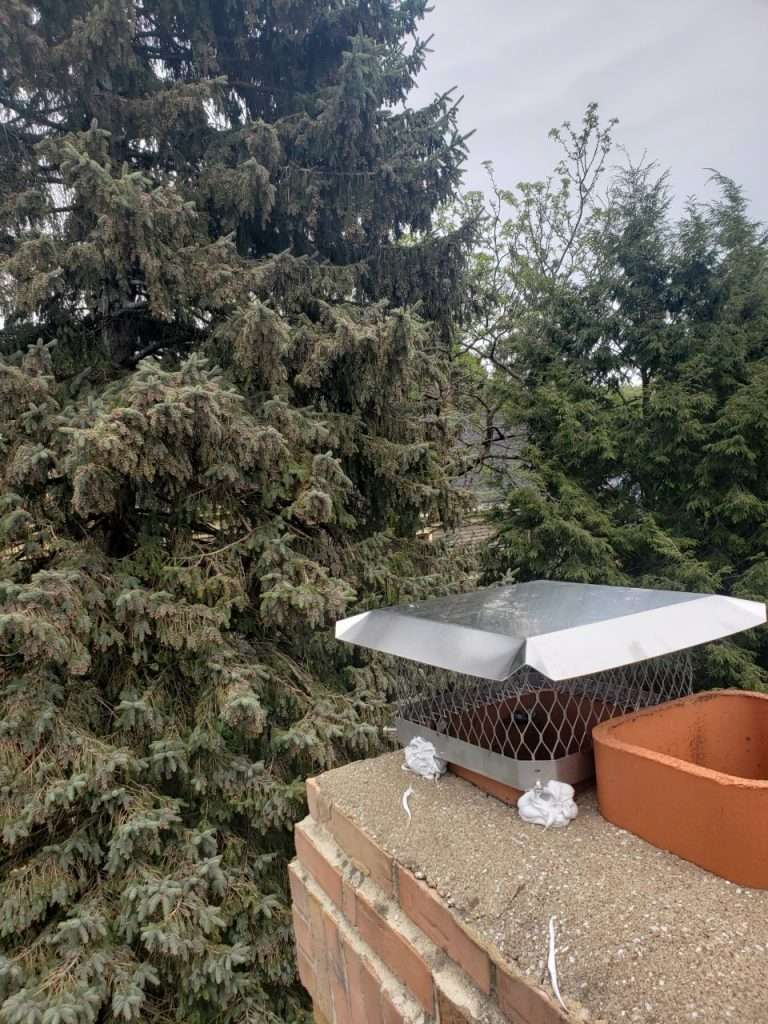 Chimney Cap installation services at Green and Clean Home Services